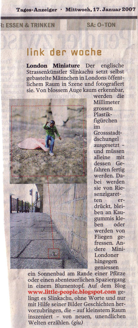 Tages-Anzeiger  (Switzerland)  17th January 2007