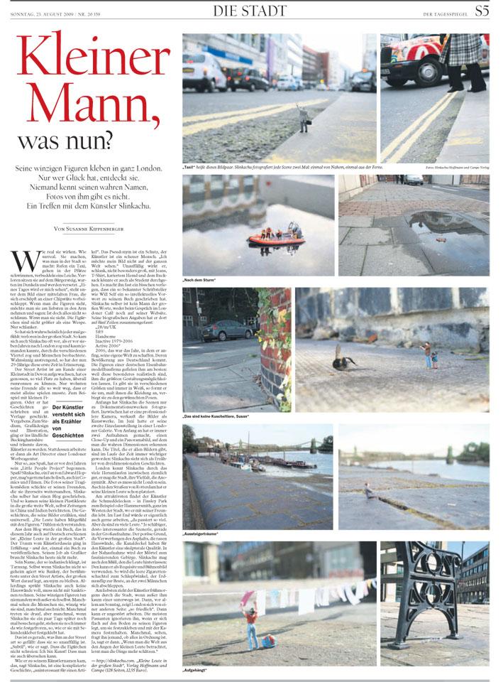 Der Tagesspiegel 23rd August 2009