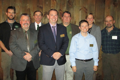 2014 MAA board of directors: (Front row,l-r) John Terault, MCA; Greg Mosman, MCA; Natascha Batchelor, MCA; (Back row, l-r) Trumbull Barrett, MCA; Richard Herfurth, MCA; Marc Hansen, MCA; Virginia Wood; Dan McCarthy, MCA.