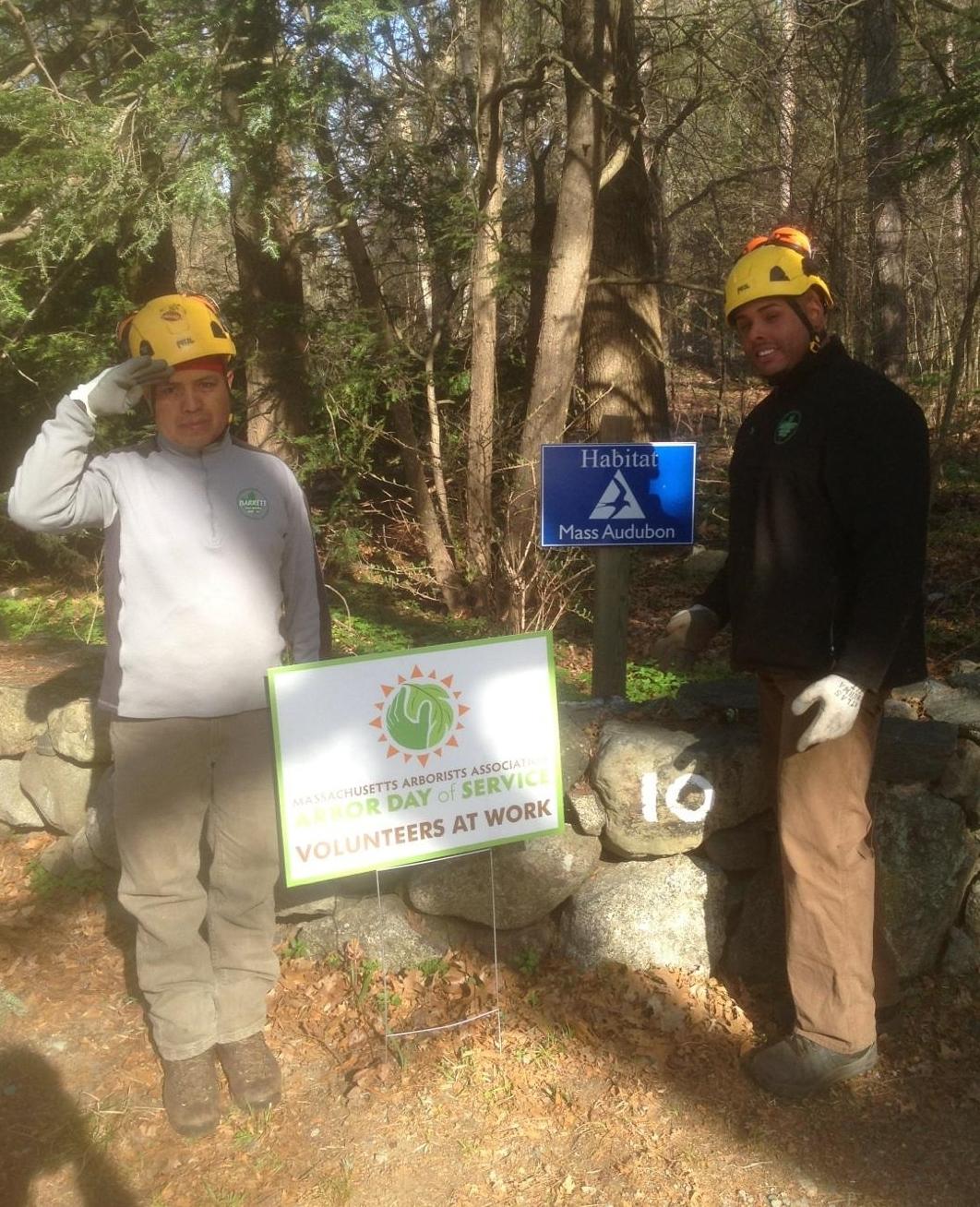 BTSE's Vincente & Roger volunteered their talents at Mass Audubon's Habitat Wildlife Sanctuary in Belmont.