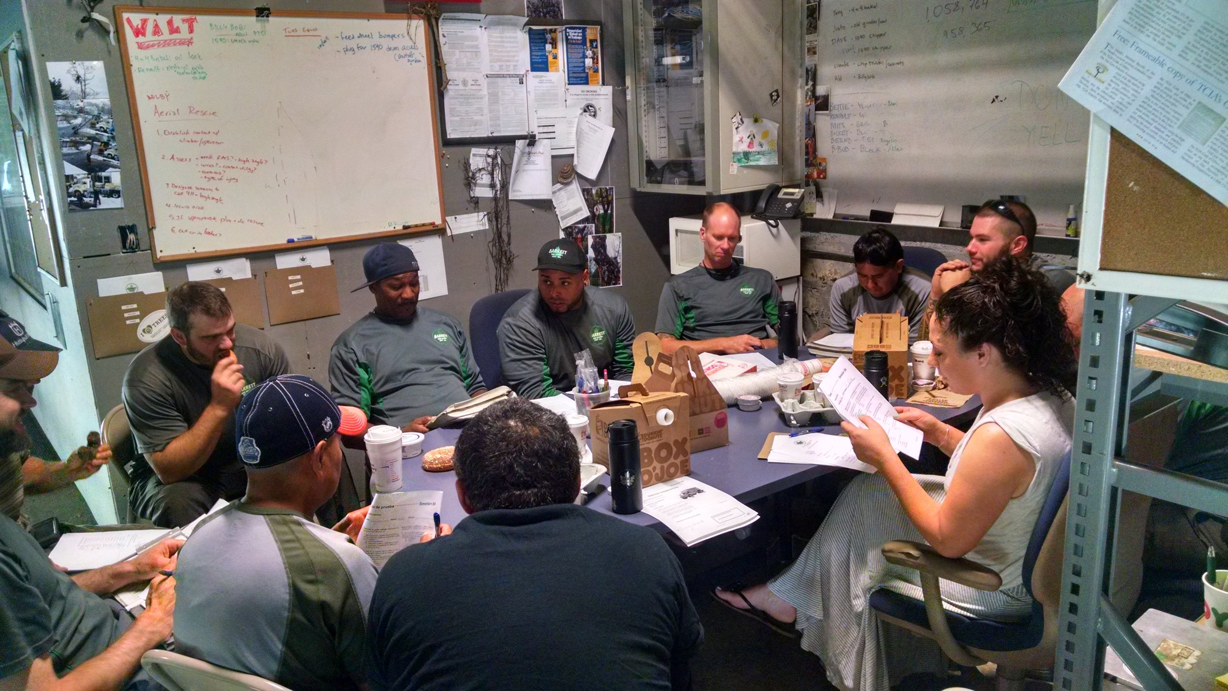 Barrett Tree Service East is committed to fostering a culture of safety and hold weekly meetings to directly address the safety challenges that arborists face.