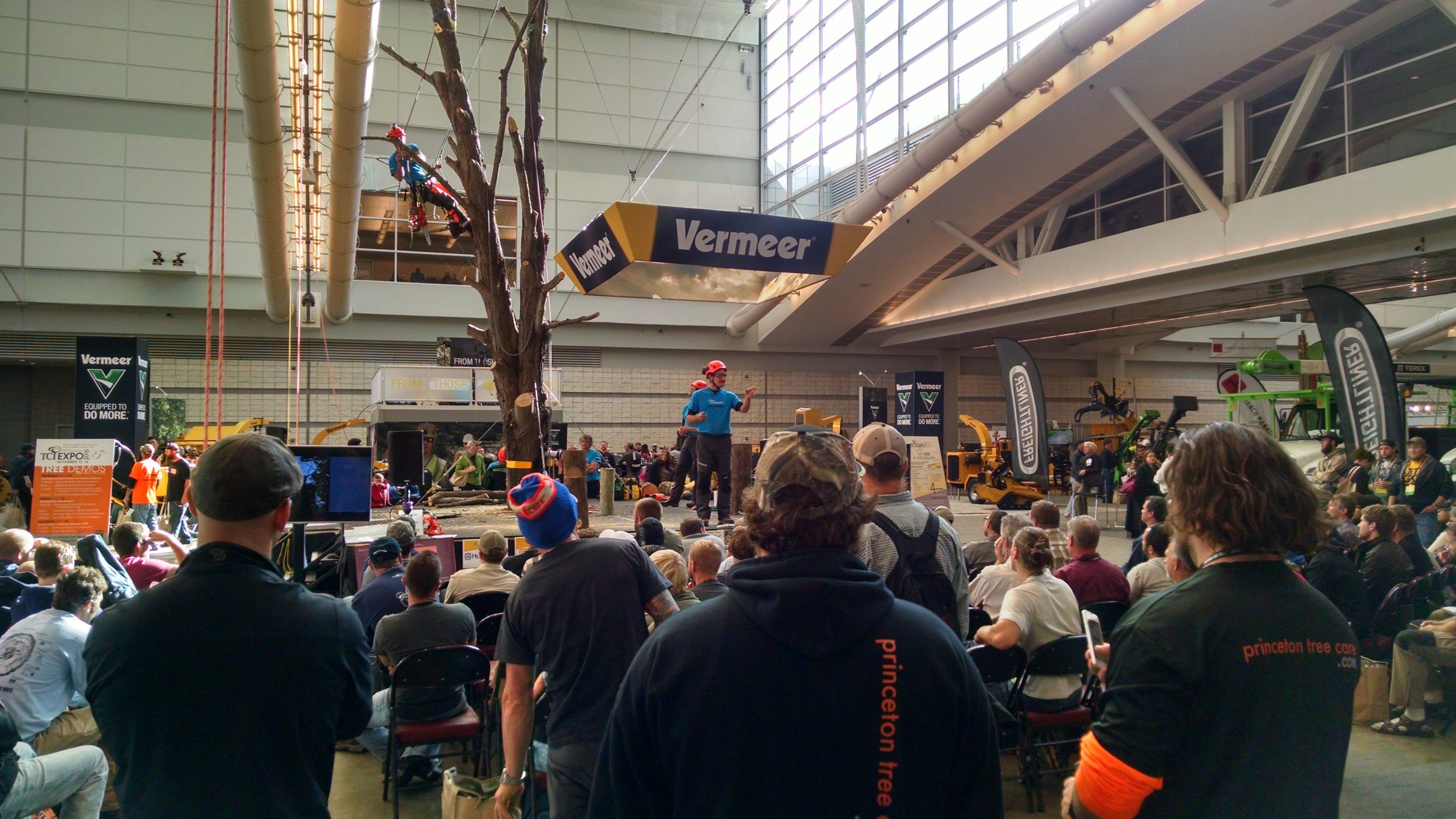 The biggest names in arboriculture gathered for workshops, seminars and live demonstrations by tree climbing champions.