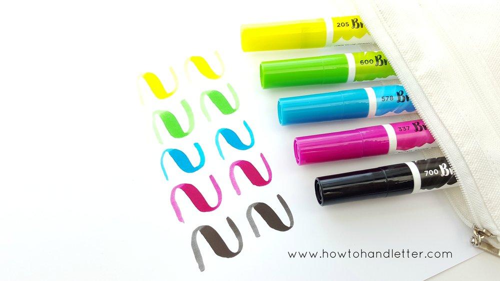Ecoline Brush Pens Handlettering