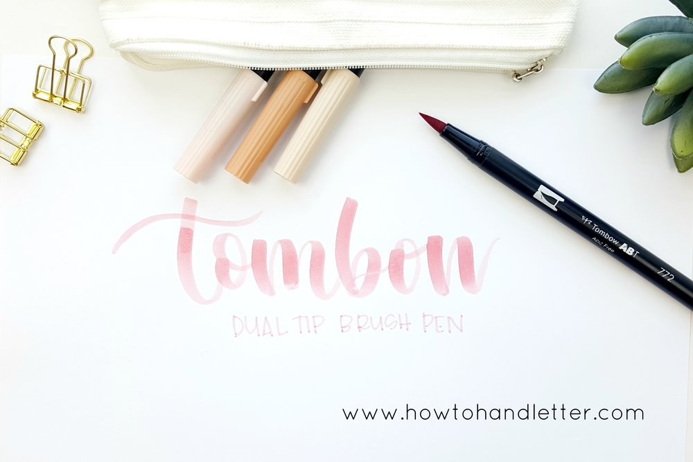 Tombow Dual Tip Brush Pens How to Handletter