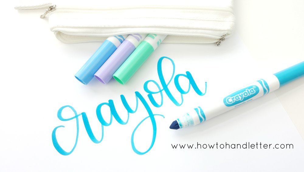 How to Handletter Crayola Handlettering