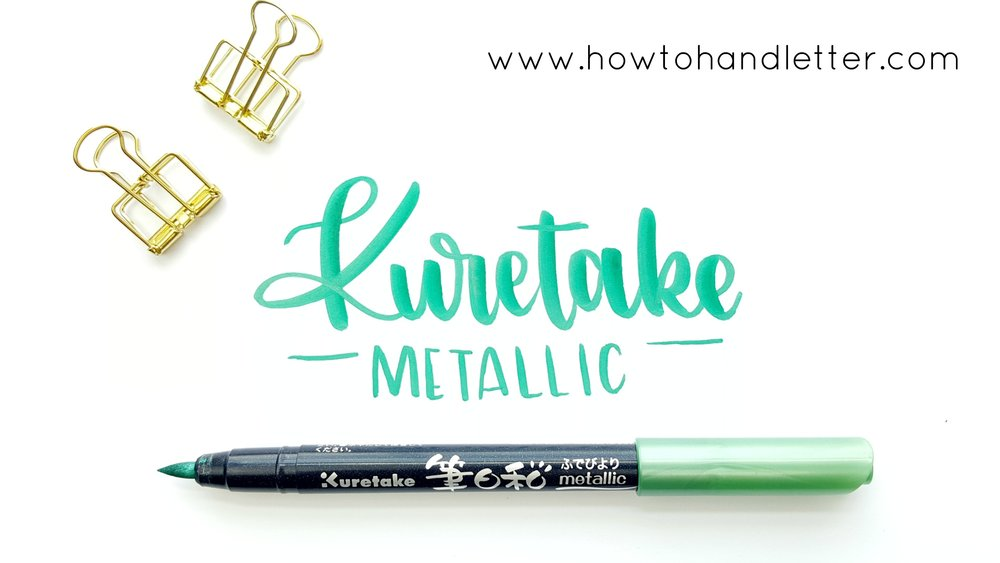 How to Handletter Kuretake Metallic Markers Handlettering