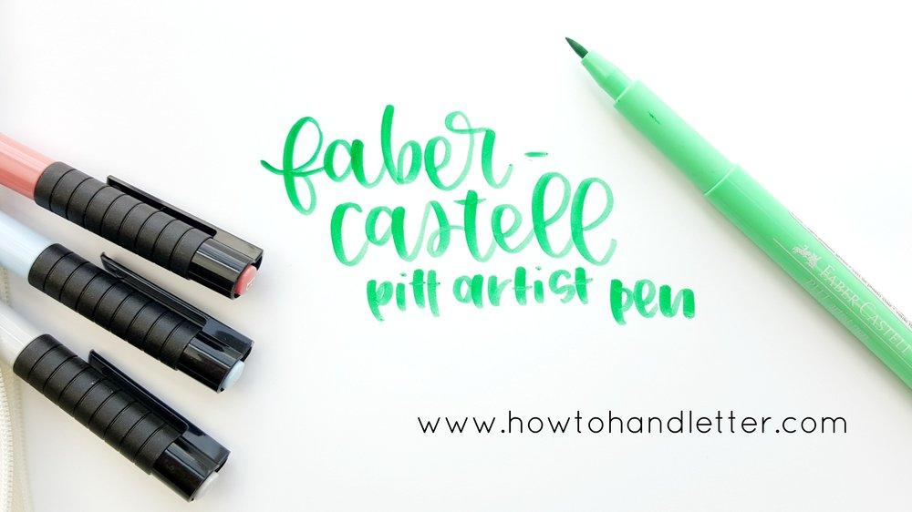 How to Handletter Faber-Castell Pitt Artist Pen Handlettering