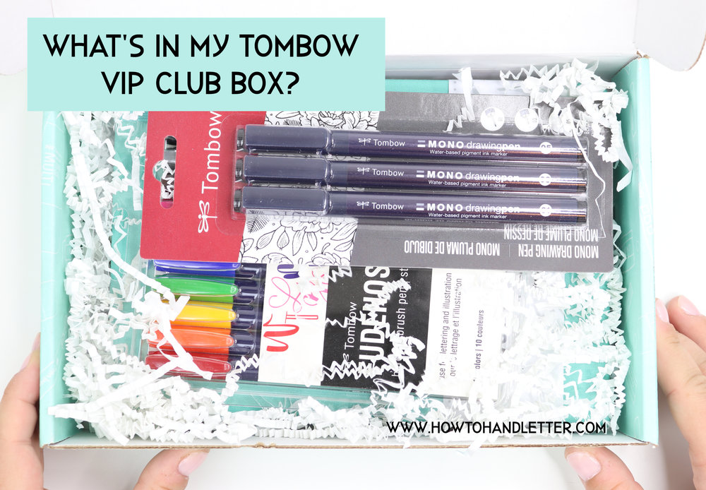 New Tombow Pens VIP Club Box How to Handletter