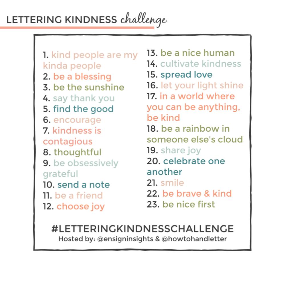 Beginner Handlettering Practice Challenge