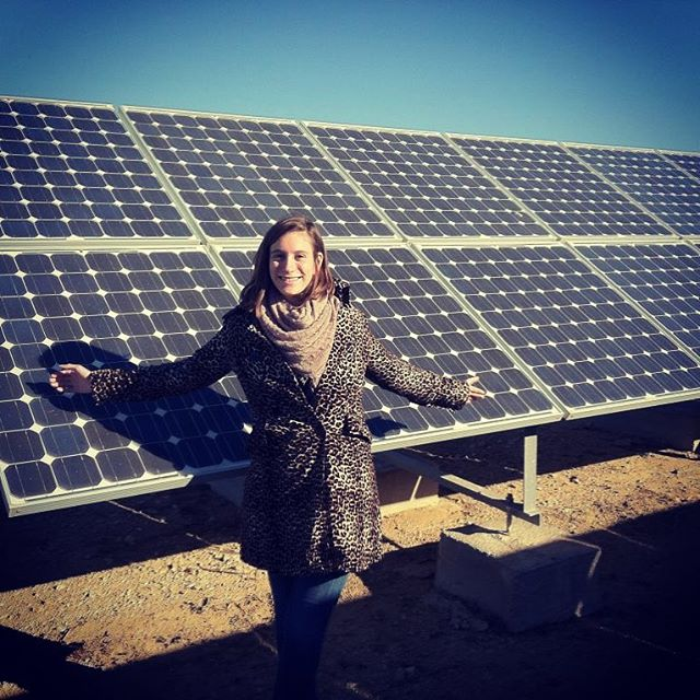 I'm smiling cuz I reached 1,000 followers! ⠀ ⠀ Flashback to my first solar farm visit back in 2014 in Spain! ⠀ (And yes I'm rocking leopard print in the field)  Little did I know that the seeds for Electric America were being planted!⠀