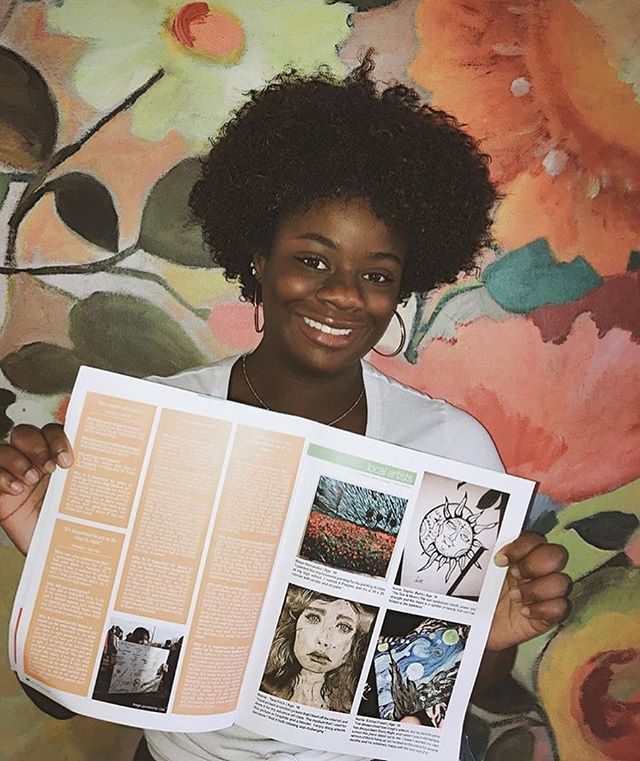 """Amazing articles about self care and beauty!"" - @sophgraceb_  _______________________ Send us a selfie or aesthetic pic of issue 02 and you may be featured in our fall issue!"