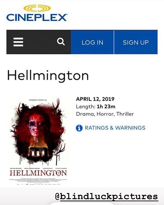 Check it out! Playing at Yonge and Dundas Cineplex until this Friday! #hellmington #cineplex