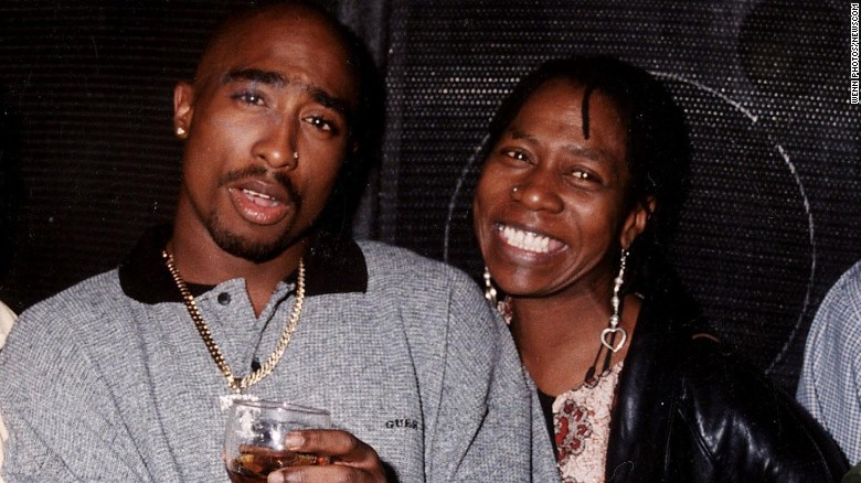 Tupac and his mama,  photo via CNN.com