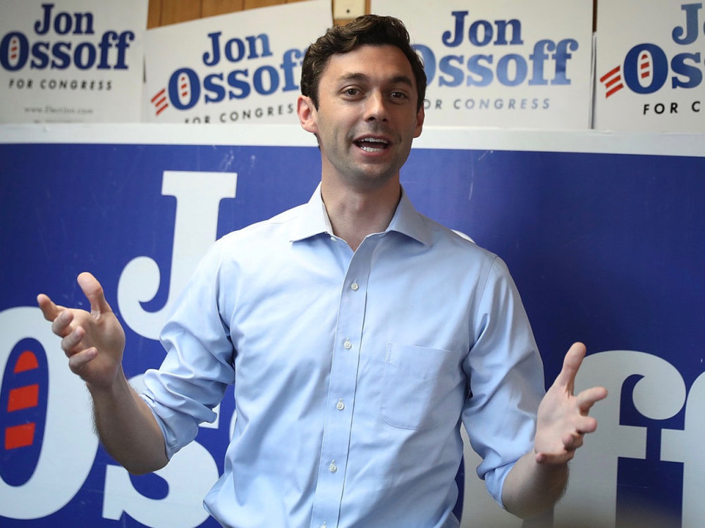 Jon Ossoff, photo via Getty Images