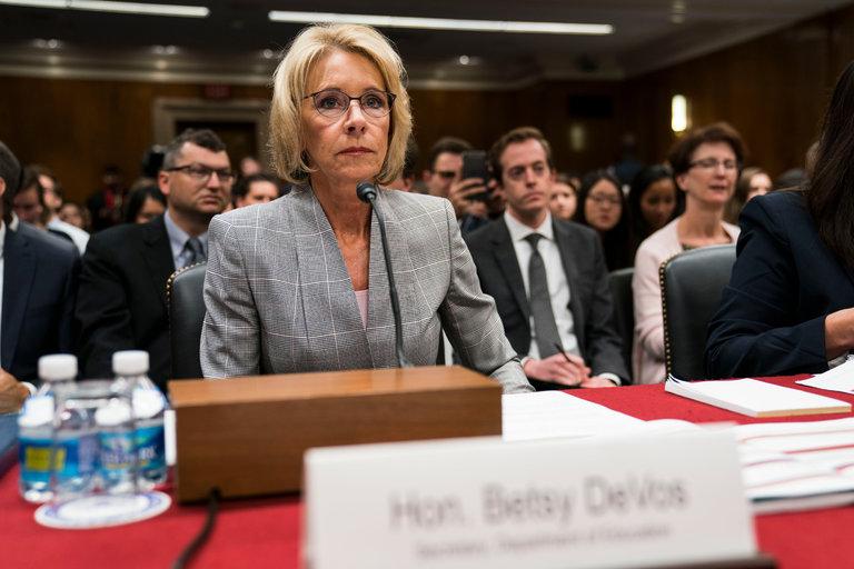 Devos, photo via  Getty Images