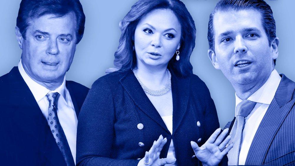 Manafort, Veselnitskaya and Trump Jr.,Photo via  Daily Beast