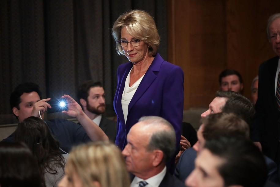 Betsy Devos, photo via  Daily Kos