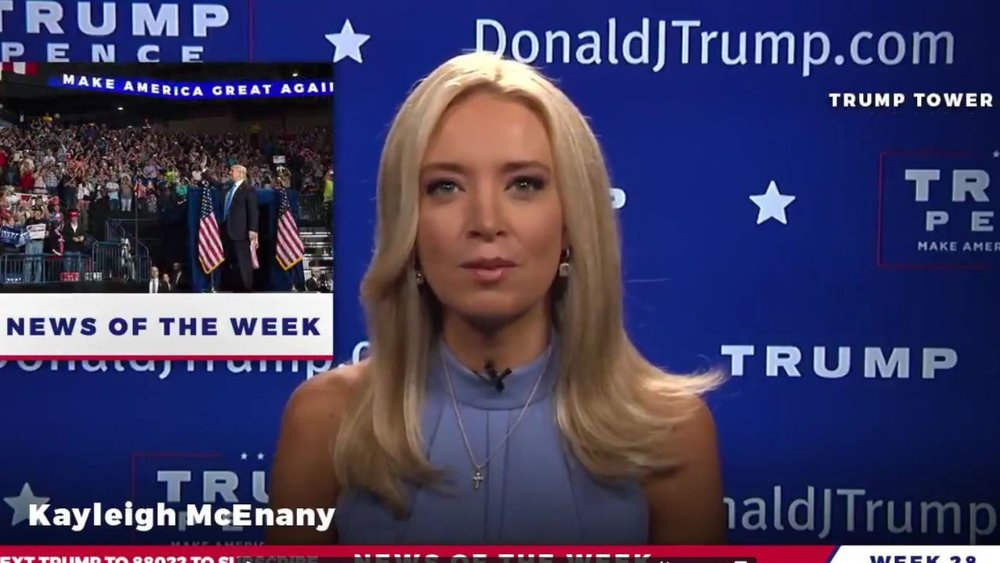 McEnany, photo via  Donald J. Trump Facebook page