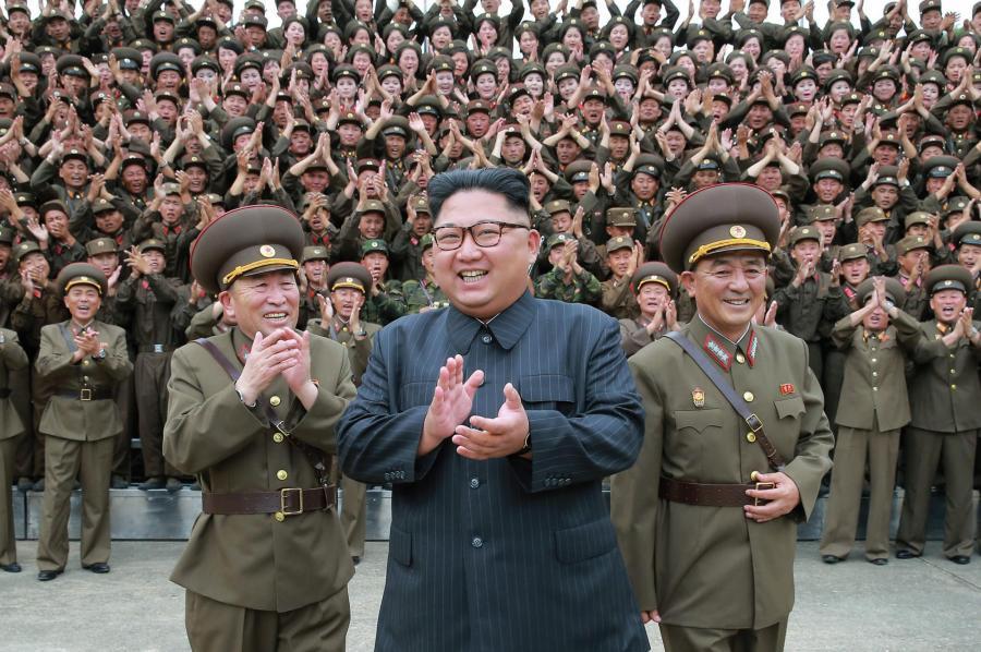 centered is North Korea's Kim Jong Un, photo via Evening Standard