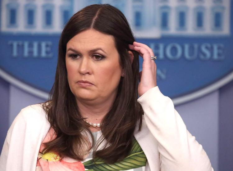 Sarah Huckabee Sanders, photo via  NY Daily News