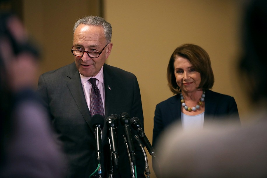 Schumer and Pelosi, photo via  DailyKos
