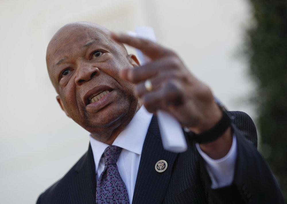 Elijah Cummings, photo via  Washington Times