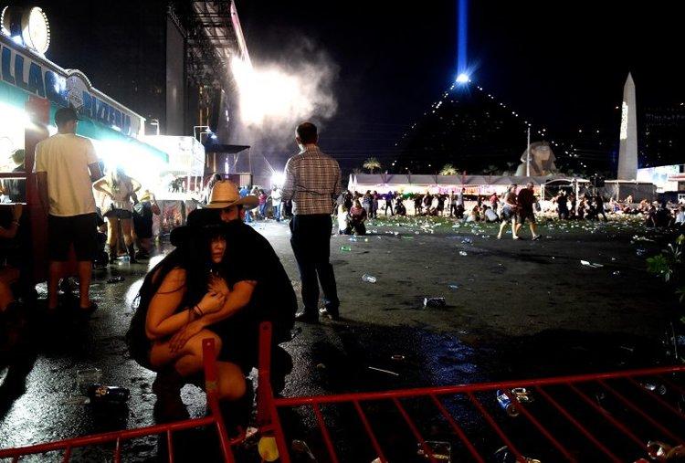 chaos in Las Vegas, photo via  Fox News