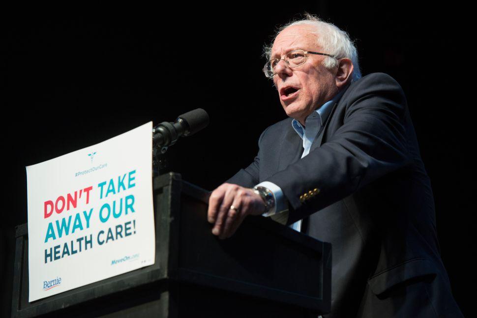 Sanders, photo via  Getty Images