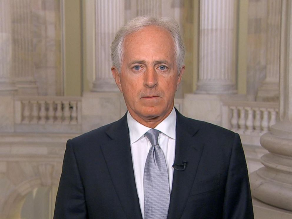 Corker today on Good Morning America, photo via  ABC News
