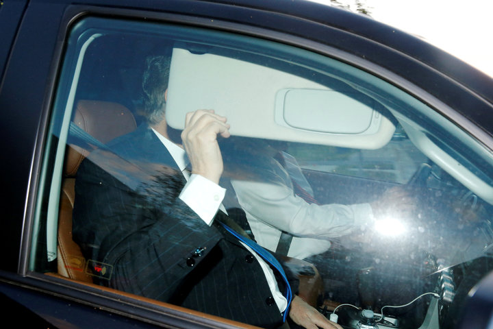 Manafort on the way to turn himself in, photo via  Reuters