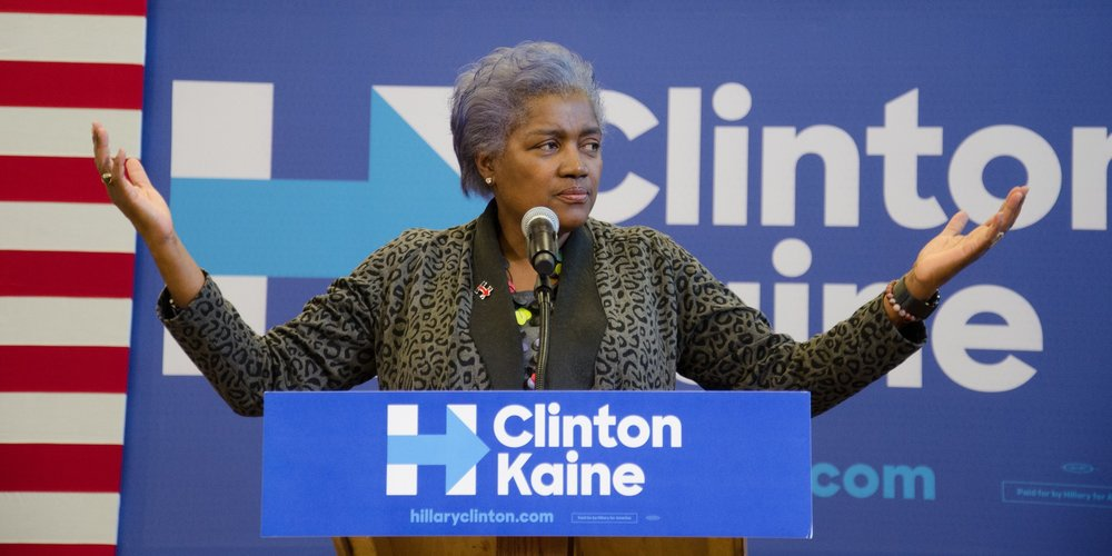 Brazile campaigning for Clinton, photo via  Flickr