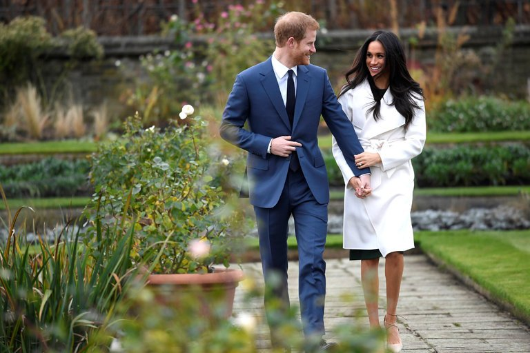 Markle and Prince Harry, photo via  Getty Images