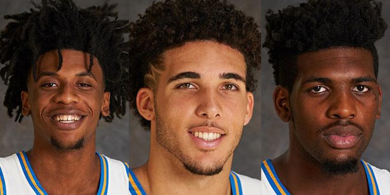 the 3 players, photo via  UCLA