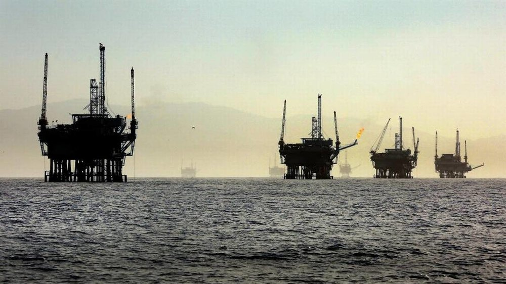 offshore drilling as seen in Los Angeles photo via  LA Times