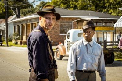 """Garrett Hedlund and Jason Mitchell in """"Mudbound"""", photo via  Netflix"""