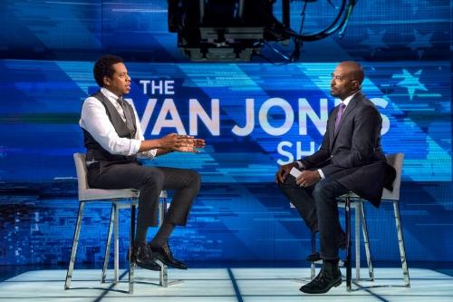 Jay-Z and Van Jones, photo via  CNN