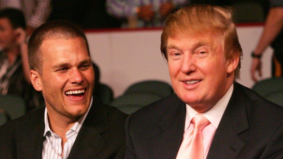 Quarterback Tom Brady and Trump. Photo via abcnews.com