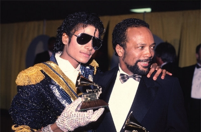 Michael Jackson and Quincy Jones circa 1984, photo via  Associated Press
