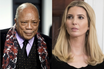 Ivanka Trump and Quincy Jones, photo via  Vogue