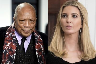 Ivanka Trump and Quincy Jones, photo via  Vogue