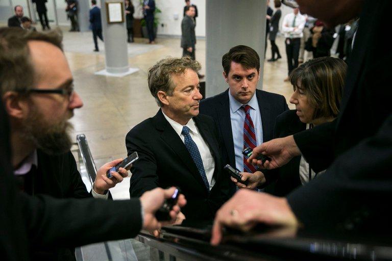 Rand Paul on the Hill, photo via  NYT
