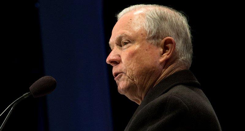 Jeff Sessions, photo via  Raw Story/ US Marshals