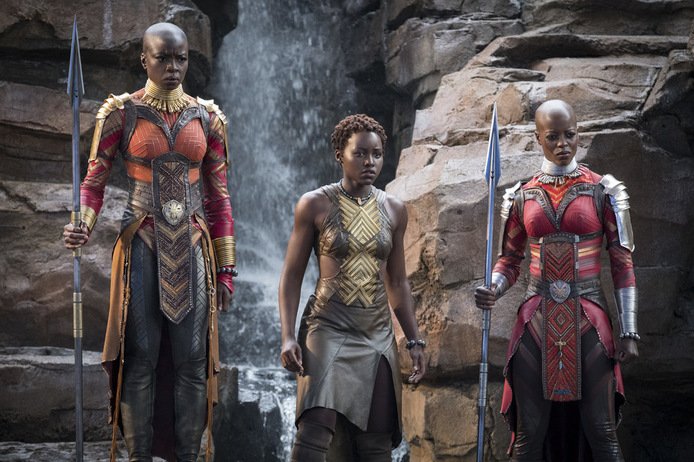 some of the women in  Black Panther , photo via  Disney