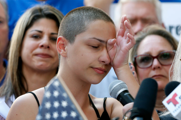 Marjory Stoneman Douglas High School student Emma Gonzalez, photo via  Getty Images