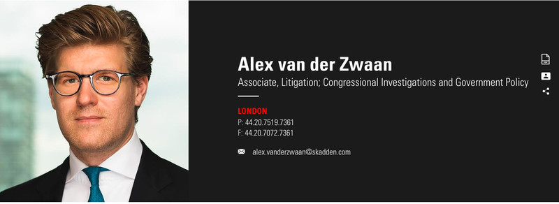 Alex van der Zwaan, photo via  Axios
