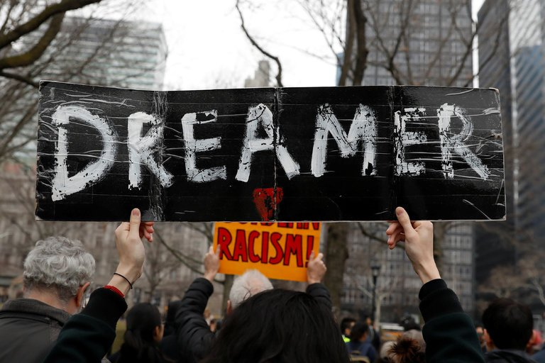 DACA protestors, photo via  Reuters