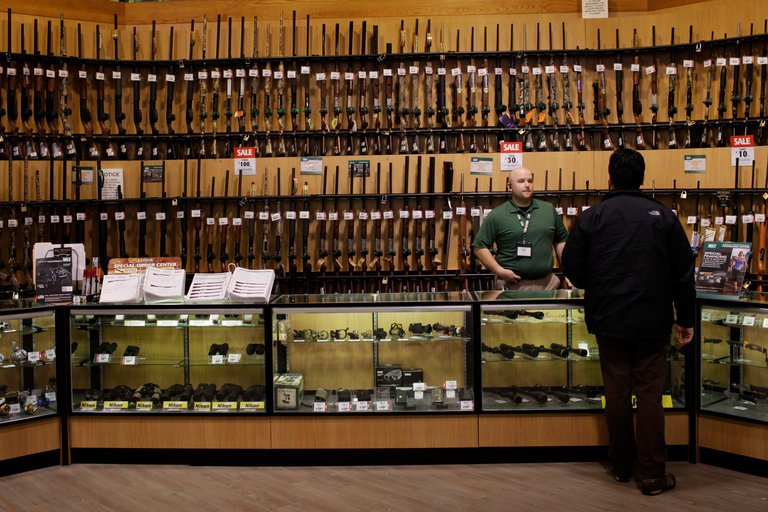 a Dick's Sporting Goods store, photo via  Bloomberg/NYT