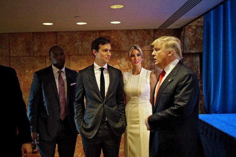 Jared Kushner, Ivanka Trump, and Donald Trump, photo via  New York Times