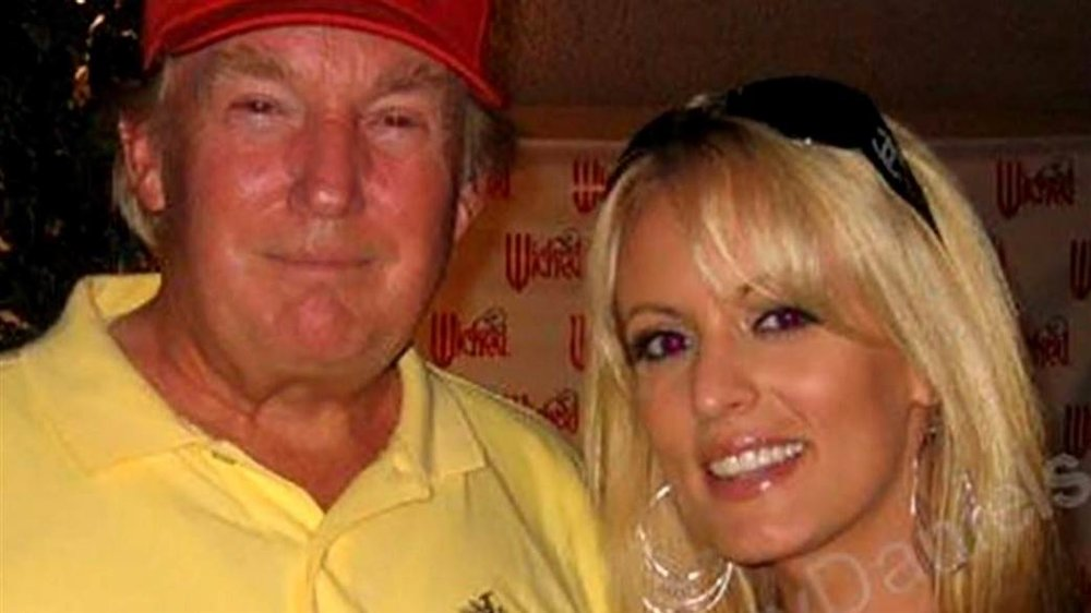 Stormy Daniels and Trump, photo via  TODAY/Stormy Daniels personal photos