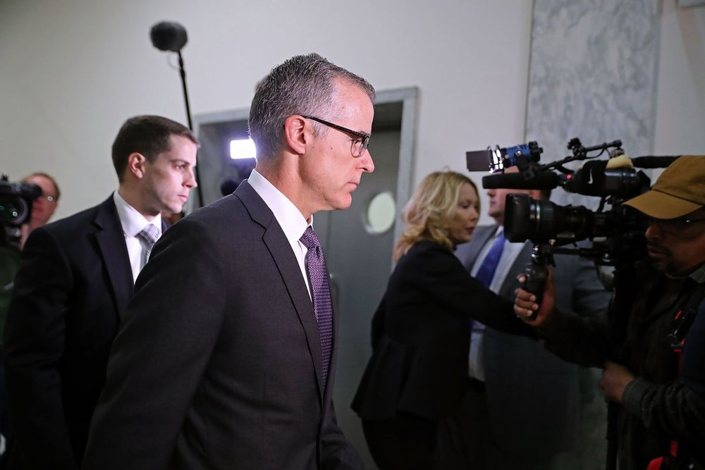 Andrew McCabe, photo via  Getty Images